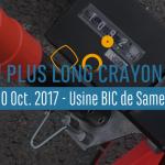 BIC x World Record : Le crayon le plus long du monde !