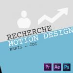 Nous recherchons un « Motion Designer » – Paris – CDI